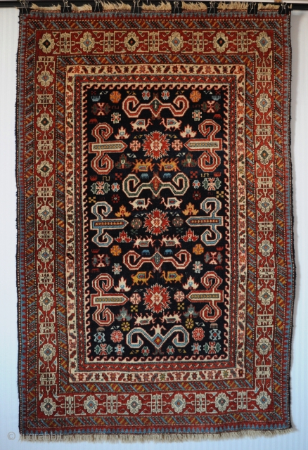 "Old Caucasian Kuba Shirvan Pirebedil rug, very good original condition, size 3'7""x5'6""(108x166cm). More pics and price on request."