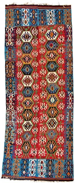 Lot 134, Hotamis kilim, starting bid € 2400, Auction October 14 5pm, https://www.liveauctioneers.com/catalog/109605_fine-antique-oriental-rugs-viii/?count=all
