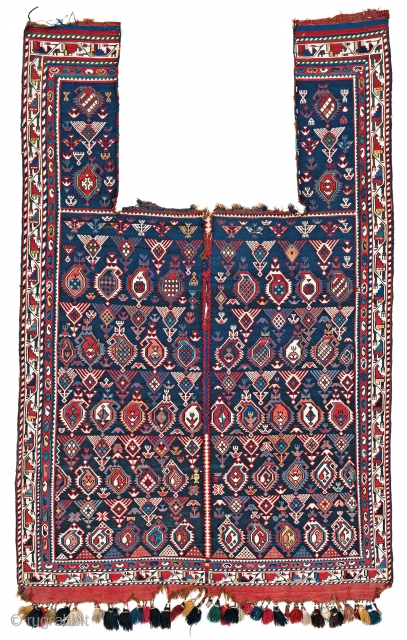 Lot 151, Marasali sumakh horse cover, starting bid € 2000, Auction October 14 5pm,https://www.liveauctioneers.com/catalog/109605_fine-antique-oriental-rugs-viii/?count=all