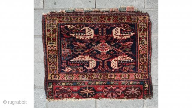 Persian Lori bag face, late 19th century 67x56cm