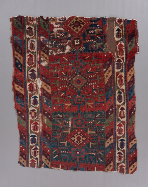 northwest Persian fragment with outstanding color.