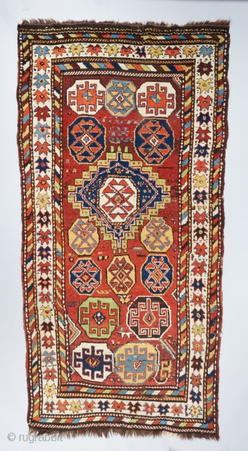 Crazy Kurdish rug with electric colors. In excellent condition. Ask for more info. 