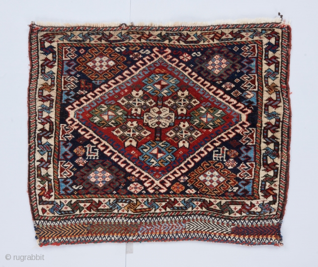"""Qashqai bag face in great condition with very good colors. 2'3"""" x 1'10"""".  Please see our website for more collectible and decorative woven art : www.bbolour.com"""