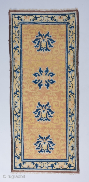 early 19th century Ningxia runner reduced in length .