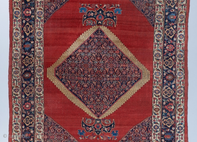 """A gorgeous Bijar. Colors, border. Not much more to be said. 14'5"""" x 9'8"""".  Visit our website for more top notch room sized carpets: https://www.bbolour.com/all-decorative-carpets/"""