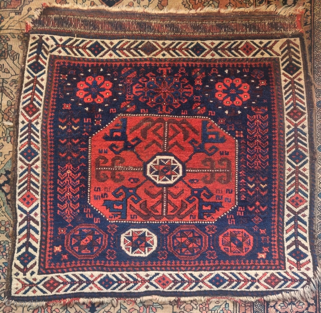 Large Baluch star octagon bag. Great wool and handle.