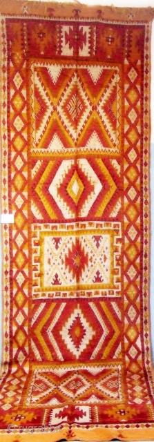 Rf 119-Ait Khozama Berber rug ( Ait Ouaouzguite ), wool, 456 x 129 cm, circa 1950s.