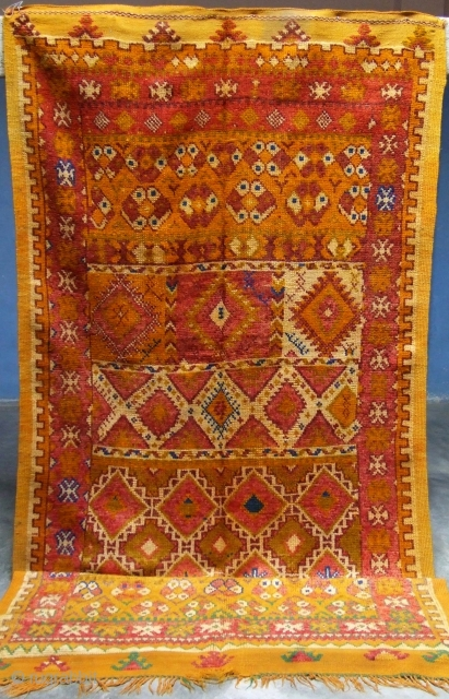 Rf 137- Ait Ouaouzguite Berber rug ( Ait Tamassine south ), wool, 342 x 144 cm, circa 1960s.