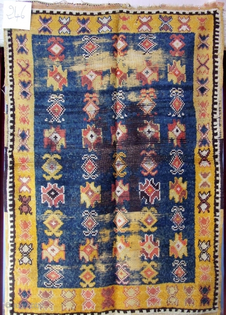 Rf 246- Ait Ouaouzguite Berber rug ( Ait Emer ), wool,  natural colour, 145 x 100 cm, circa 1910s.