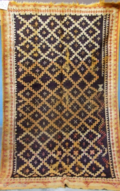 Rf 265-Ait Ouaouzguite Berber rug ( Ait Znaga south ), wool, 220 x 135 cm, circa 1900s.