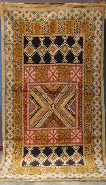 Rf 267- Ait Samgan Berber rug ( Ait Ouaouzguite ), wool, 232 x 126 cm, circa 1975-80s.