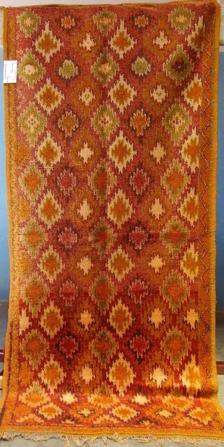 Rf 45-Anti-atlas berber rug ( Ait douchen south ), wool, 227 x 104 cm, circa 1970-75s.