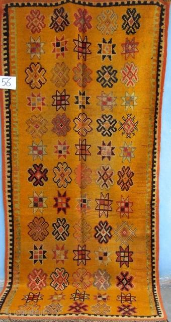 Rf 56-Ait Ouaouzguite rug ( Ait Douchen ) wool, 220 x 100 cm, circa 1970-75s.