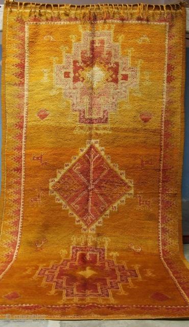 Rf 59-Anti-atlas Berber rug ( Ait douchen ), wool, 280 x 140 cm, circa 1970-75s.