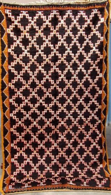 Rf 67- Berber rug, ( Ait Znaga west ), wool, 245 x 120 cm, circa 1970-75s.