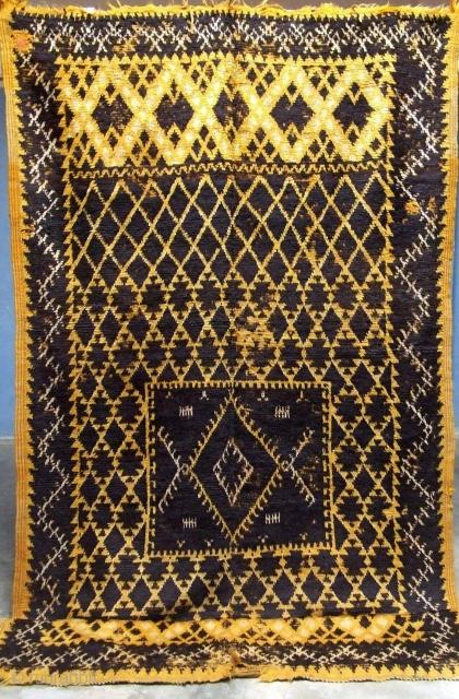 RF 7-Anti-atlas, Ait Ouaouzguite rug ( Ait Aballa ), documented in  TASNACHT book ( 1999, Kurt Reiner ), 290 x 140 cm, Circa 1900s.