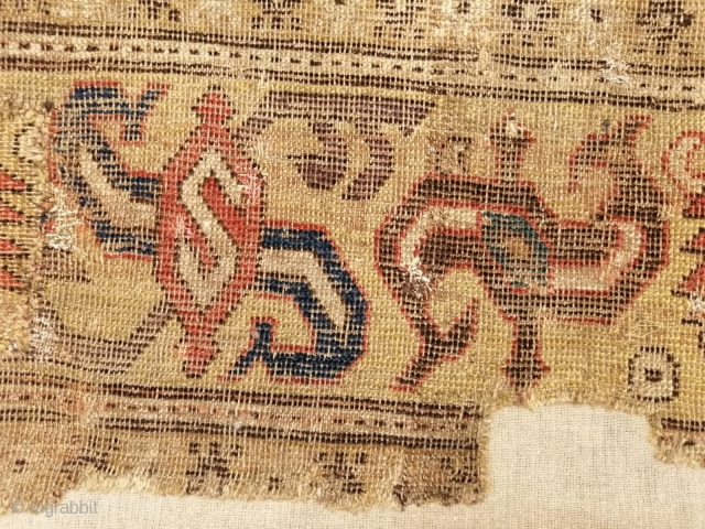 Fragment of a classical Caucasian, about 155 x 165 cm, 17 thc.