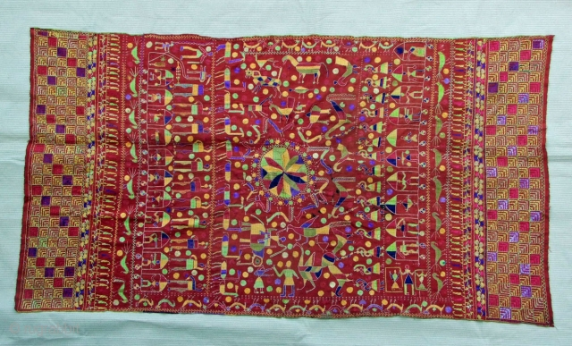 A beautiful Sainchi Phulkari from the East Punjab or Haryana Made around 1930 120 x 225cm Please ask for more information or pictures Thank you for visiting my website www.m-beste.com for many more Phulkaris and Baghs