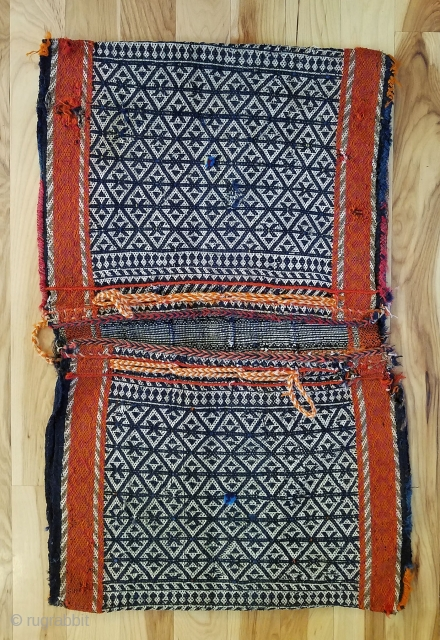 """Qashqai Complete Khorjin --  Warp faced complete bag. 33"""" h  x 21"""" w.  Check out my other recent listings."""