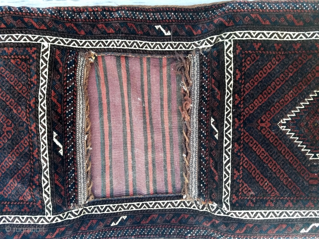 Baluch khorjin - made into pillows that can be removed easily.  Minor traces of silk in center.  $225 USD + ship