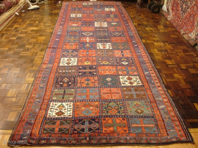 An 1890's Kurdish gallery size piece in perfect condition.  6' 5'' x 20' 10''