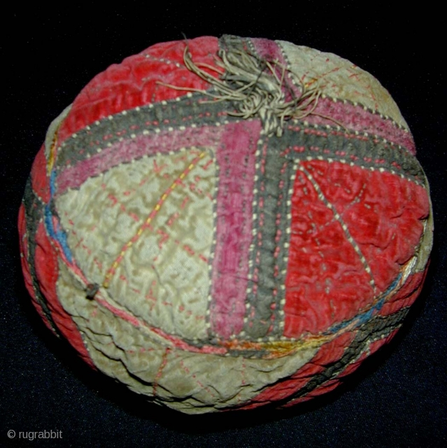 Central Asian Child S Velvet Hat First Half Of 20th C