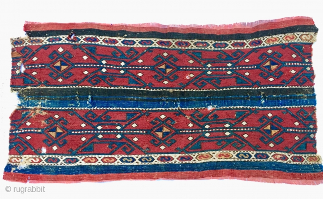 East Anatolian cuval sumack fragment. Cm 55x110 ca. End 19th century. Great piece. - Peter D......more details pls!