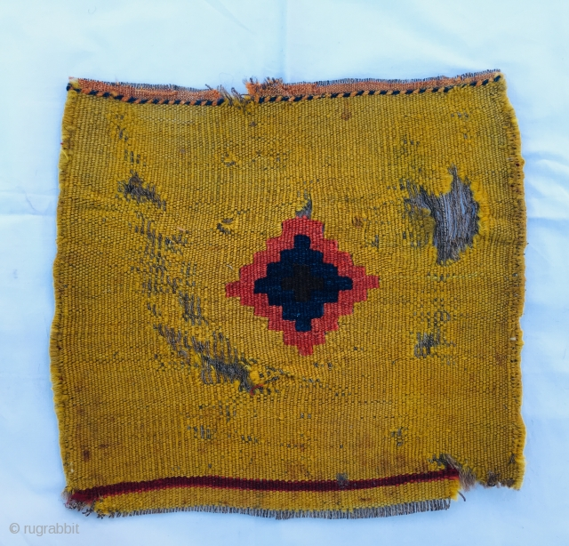 Tribal art or modern art? Iconic back of a chanteh, a small bag, most probably Qashqai. Not a masterpiece, but simply a sweet, extremely modern example of tribal art. Imho over 100  ...
