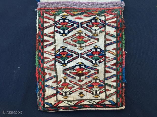 Mini khorjin Shahsavan. cm 20x70, each bag is cm 20x26. Multi purpose bag. Early 20th century. Wool embroidered. In good condition. Ask here pls: carlokocman@gmail.com