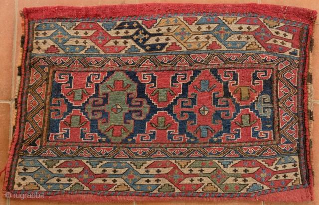 Shahsavan Soumakh Bag Ronnie Newman piece,  Nice striped back 73x43 cm Very good condition