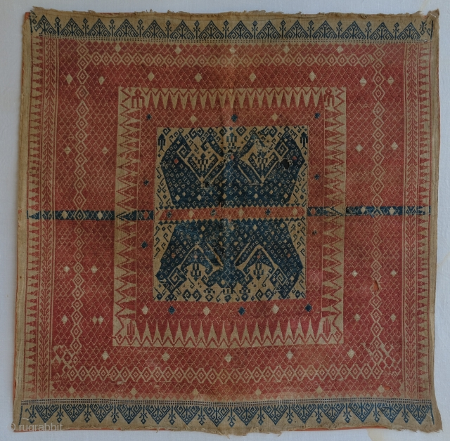 Tampan ceremonial textile from Lampung region, Southern Sumatra. 