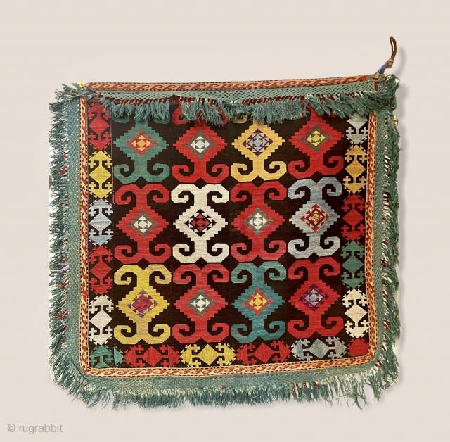 Lakai cross-stitch silk embroidery late 19.C
