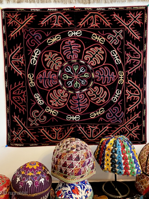 Kirghiz embroidery,silk on velvet early 20. C.