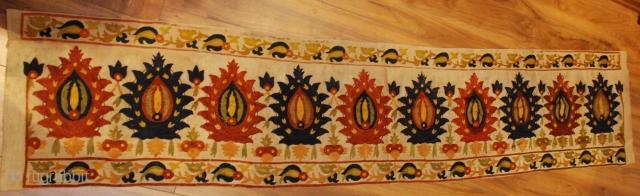 19th century Ottoman embroidery,size 220 x 44 cm