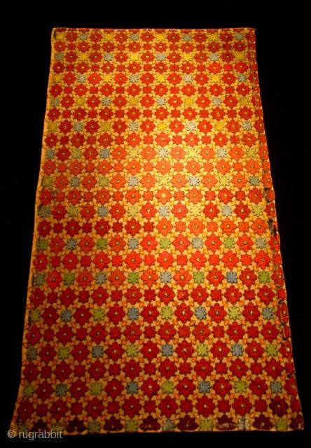 Turkish silk embroidery 19th century size 92 x51 cm