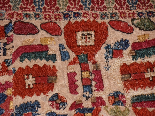 early 19th century Greek island embroidery.size 134 x 70 cm