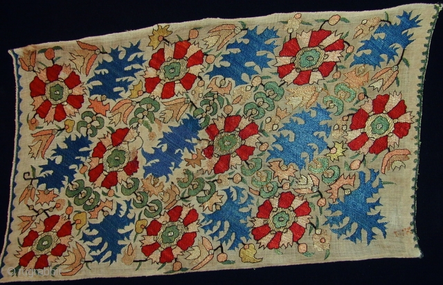 early 18th.century Epirus embroidery,size 61 x 35 cm.silk on linen