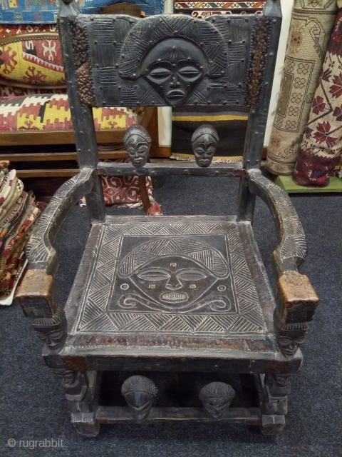 African Chokwee chief's throne chair. Angola/Congo.