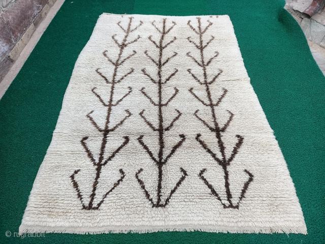 Anatolian Niğde area melendiz yatak rug full pile and fine condition Size=264x174 cm