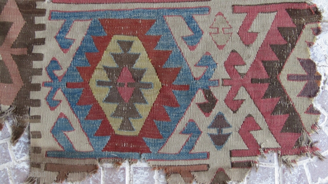 late 18 th Central Anatolian kilim fragment 