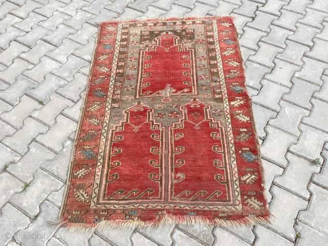 Central Anatolian Sivas children saf rug Size 140x93 cm