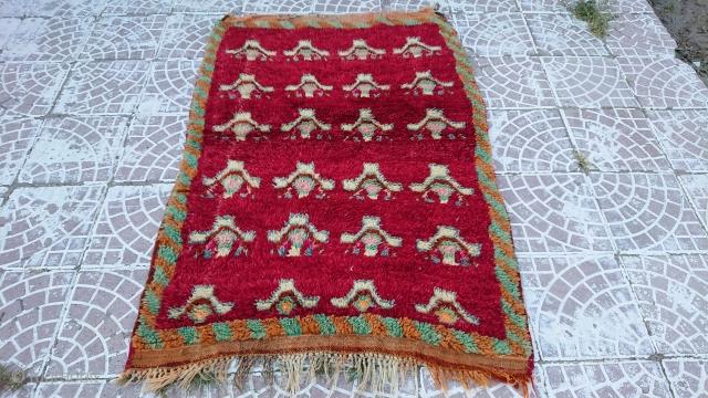 Anatolian Konya ayrancı Tulü rug size=140x105