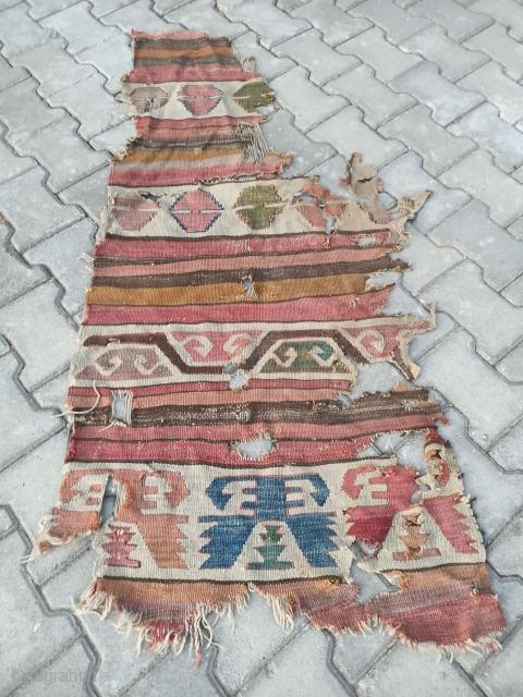 18 th Cappadocia uchisar kilim fragment