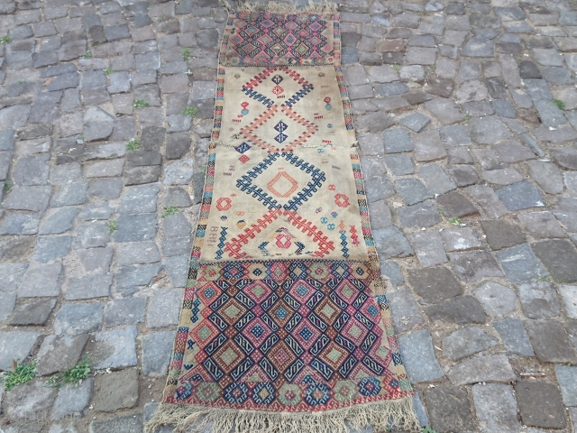 Antique Anatolian runner Kilim size=200x54 cm Sivas area