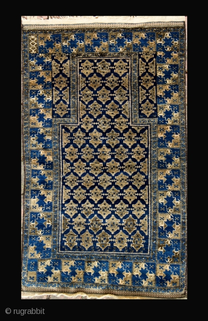 Antique Baluch rug, 138x81cm, natural colours,carefully washed.