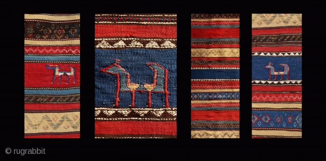 Chiyi Palaz,circa 1870 or older, 310x188cm, most saturated colours, extremely fine weave.