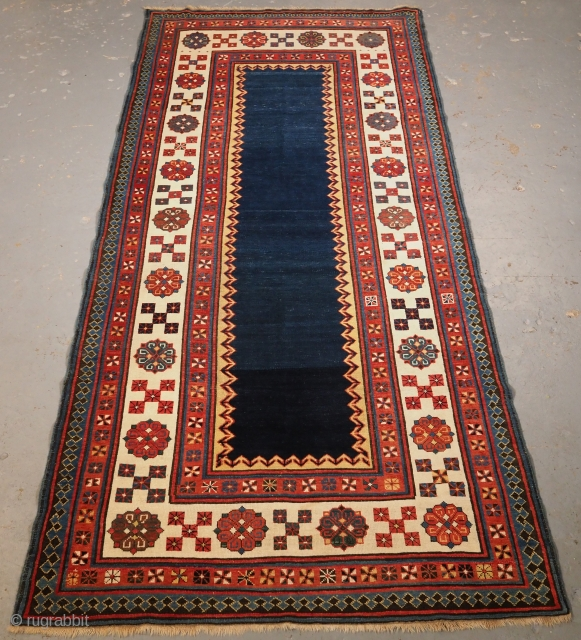 Exceptional Talish long rug, 19th century. 250 x 115cm. www.knightsantiques.co.uk