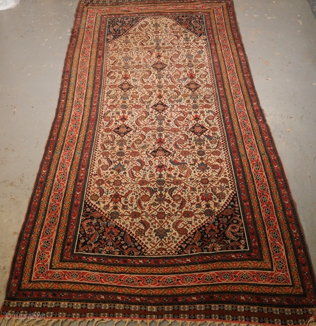 Qashqai long rug, 19th century. 305 x 143cm. www.knightsantiques.co.uk