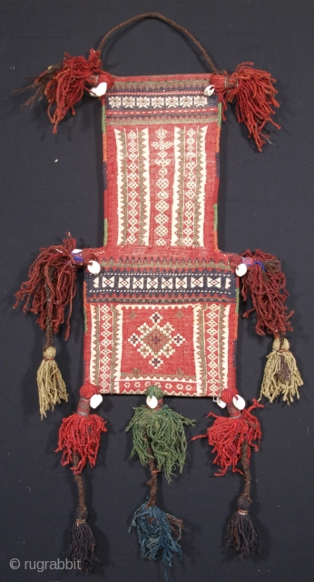 Antique salt bag by the Zaggar Mangal nomads of South West Afghanistan. www.knightsantiques.co.uk 
