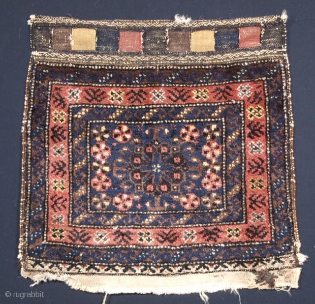 ***£225/$285*** Baluch bag face, size: 48 x 47cm. click the link www.knightsantiques.co.uk to view more items.